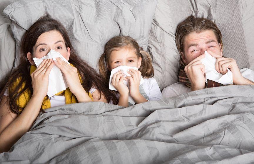 Riposare bene anche con l'influenza
